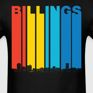 Vintage Billings Montana Skyline T-Shirt - Men's T-Shirt