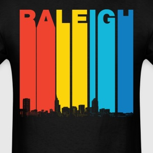 Vintage Raleigh North Carolina Skyline T-Shirt - Men's T-Shirt
