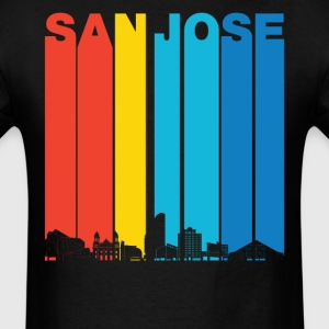 Vintage San Jose California Skyline T-Shirt - Men's T-Shirt