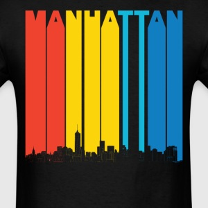 Vintage Manhattan New York Skyline T-Shirt - Men's T-Shirt