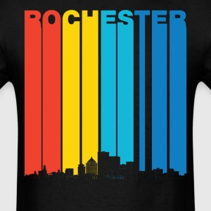Vintage Rochester New York Skyline T-Shirt - Men's T-Shirt