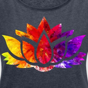 Lotus - Women's Roll Cuff T-Shirt