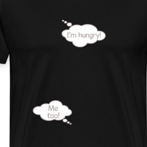 I'm Hungry Funny Pregnancy Baby Bubble T-shirt T-Shirts - Men's Premium T-Shirt