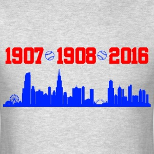 cubs chicago skyline T-Shirts - Men's T-Shirt