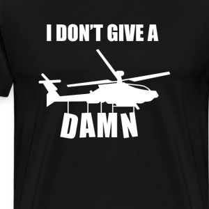 I Don't Give a Damn Funny Graphic T-shirt T-Shirts - Men's Premium T-Shirt