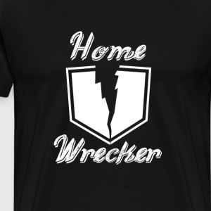 Homewrecker Graphic Shield Funny T-shirt T-Shirts - Men's Premium T-Shirt