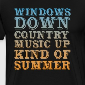 Windows Down, Country Music Up Kind of Summer Tee T-Shirts - Men's Premium T-Shirt