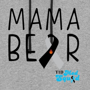 Mama Bear Black.png Hoodies - Colorblock Hoodie