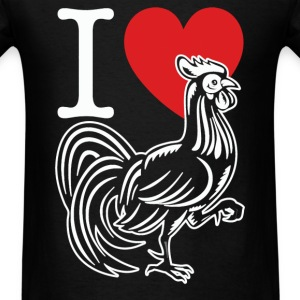 I HEART LOVE COCK - Men's T-Shirt