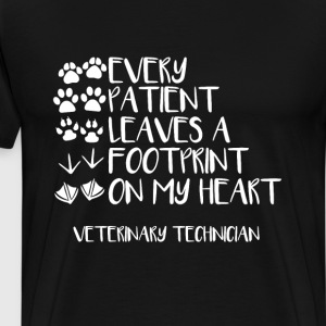 Every Patient Has Left an Imprint Vet Tech T-shirt T-Shirts - Men's Premium T-Shirt