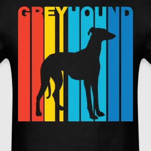 Vintage Greyhound Silhouette Dog Owner T-Shirt - Men's T-Shirt