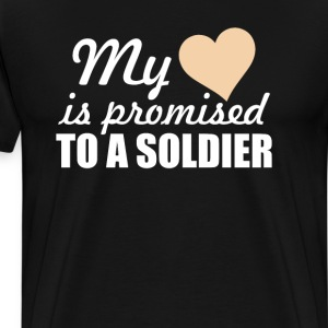 My Heart is Promised to a Soldier Graphic T-shirt T-Shirts - Men's Premium T-Shirt
