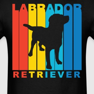 Vintage Labrador Retriever Silhouette Dog Shirt - Men's T-Shirt
