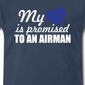 My Heart is Promised to a Airman Graphic T-shirt T-Shirts - Men's Premium T-Shirt