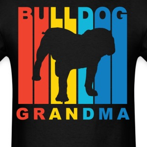 Retro Bulldog Grandma Dog Grandparent T-Shirt - Men's T-Shirt