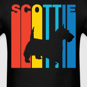 Vintage Scottie Silhouette Cool Dog Owner Shirt - Men's T-Shirt