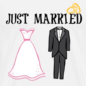 JUST MARRIED - Men's Premium T-Shirt