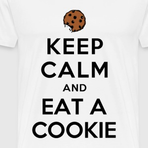 KEEP CALM AND EAT A COOKIE - Men's Premium T-Shirt