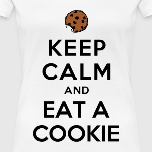KEEP CALM AND EAT A COOKIE - Women's Premium T-Shirt