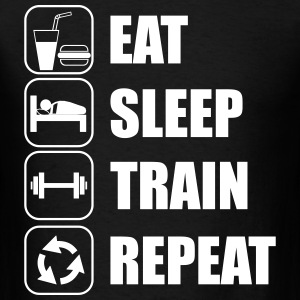 eat,sleep,train,repeat Gym  - Men's T-Shirt