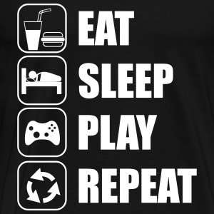 Eat,sleep,play,repeat Geek Gamer - Men's Premium T-Shirt