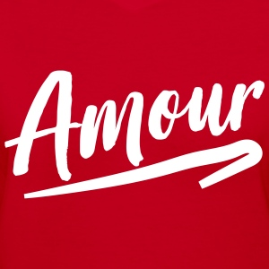 Amour T-Shirts - Women's V-Neck T-Shirt