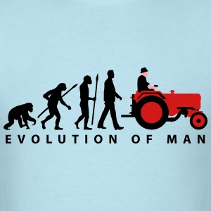 evolution_of_farmer_with_tractor_09_2016 T-Shirts - Men's T-Shirt