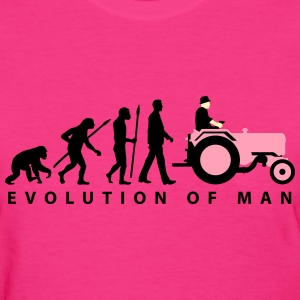 evolution_of_farmer_with_tractor_09_2016 T-Shirts - Women's T-Shirt