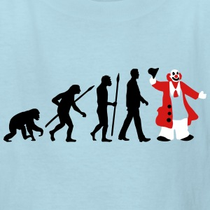 evolution_of_man_clown_09_201603_3c Kids' Shirts - Kids' T-Shirt