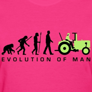 evolution_of_man_farmer_with_tractor_a_3 T-Shirts - Women's T-Shirt