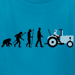 evolution_of_man_farmer_with_tractor_b_3 Kids' Shirts - Kids' T-Shirt