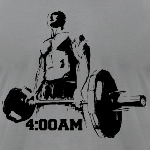 4:00AM Power Lift - Men's T-Shirt by American Apparel