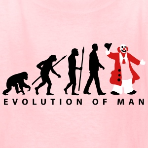 evolution_of_man_clown_09_201601_3c Kids' Shirts - Kids' T-Shirt