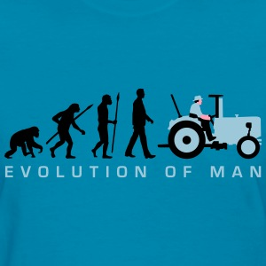 evolution_of_man_farmer_with_tractor_c_3 T-Shirts - Women's T-Shirt