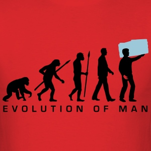 evolution_of_man_furniture_mover_b_2c T-Shirts - Men's T-Shirt
