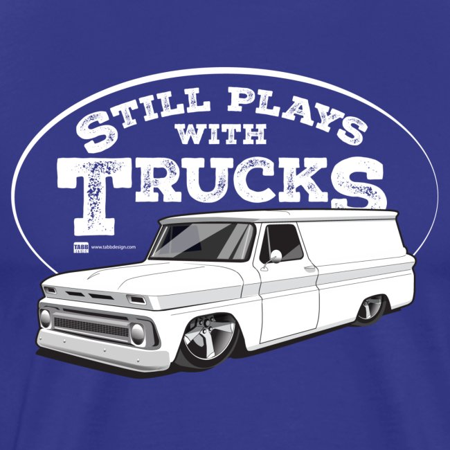 1964-66 Chevy Panel Truck Premium Tee White Graphic