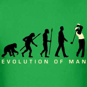 evolution_of_man_golf_player_c_2c T-Shirts - Men's T-Shirt
