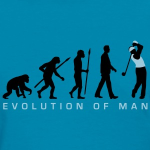 evolution_of_man_golf_player_c_2c T-Shirts - Women's T-Shirt