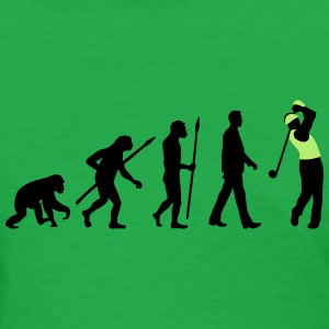 evolution_of_man_golf_player_a_2c T-Shirts - Women's T-Shirt