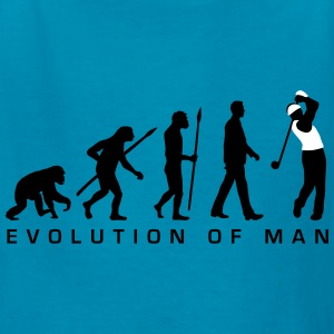 evolution_of_man_golf_player_b_2c Kids' Shirts - Kids' T-Shirt