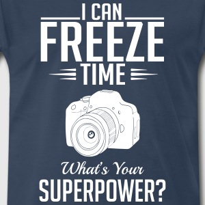 photography: can freeze time whats your superpower T-Shirts - Men's Premium T-Shirt