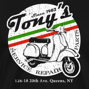 Tony's Scooter Repair (vintage look) - Men's Premium T-Shirt