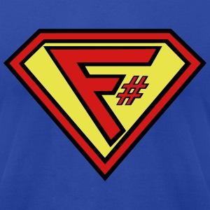 F# Hero Man - Men's T-Shirt by American Apparel