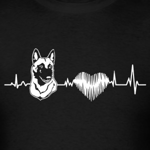 Belgian Malinois Heartbeat Shirt - Men's T-Shirt