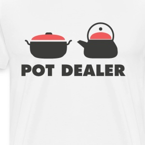 Pot Dealer Cooking Pot Tea Pot Funny T-Shirt T-Shirts - Men's Premium T-Shirt
