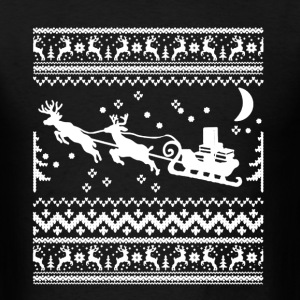 Librarian Ugly Christmas Sweater - Men's T-Shirt