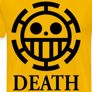 trafalgar law death yellow shirt - Men's Premium T-Shirt