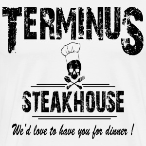 terminus steak house white shirt - Men's Premium T-Shirt
