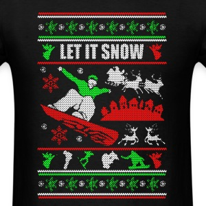 Snowboarding Chritmas Shirts - Men's T-Shirt