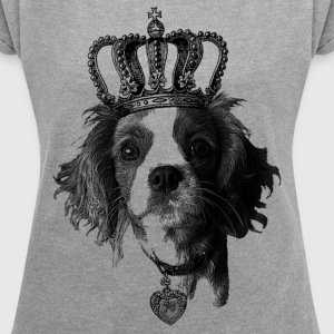 dog - Women's Roll Cuff T-Shirt